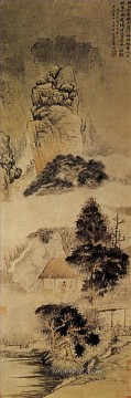 Shitao the drunk poet 1690 old China ink Oil Paintings