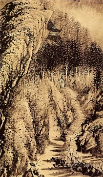 Shitao the instant from 1707 old China ink Oil Paintings