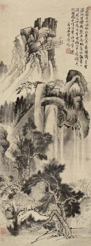 shitao Painting - Shitao house in pine and conduit old China ink
