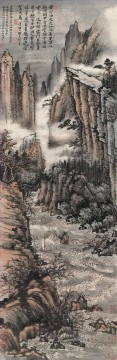 Shitao tide old China ink Oil Paintings