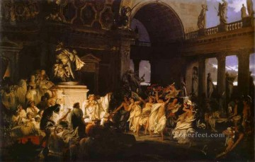 Polish Oil Painting - Roman Orgy in the Time of Caesars Polish Greek Roman Henryk Siemiradzki