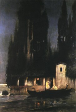 Night Art - Departure from an Island at Night Polish Greek Roman Henryk Siemiradzki