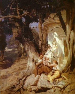 by Works - By a Temple Idyll Polish Greek Roman Henryk Siemiradzki