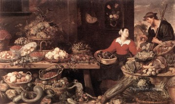 Fruit Painting - Fruit And Vegetable Stall still life Frans Snyders