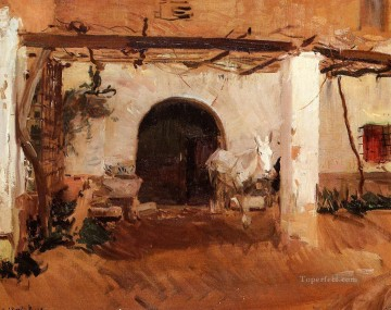 Casa de Huerta Valencia study painter Joaquin Sorolla Oil Paintings