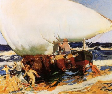 On the Beach Valencia painter Joaquin Sorolla Oil Paintings