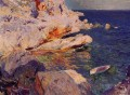 Rocks at Javea painter Joaquin Sorolla