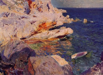 Joaquin Sorolla Painting - Rocks at Javea painter Joaquin Sorolla