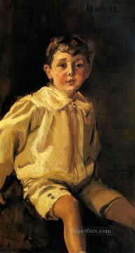 A Portrait Of basil Mundy painter Joaquin Sorolla Oil Paintings