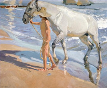 El Bano Del Caballo painter Joaquin Sorolla Oil Paintings