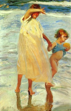 Las Dos Hermanas painter Joaquin Sorolla Oil Paintings