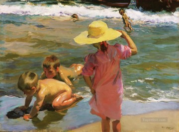 Ninos A La Orilla Del Mar painter Joaquin Sorolla Decor Art