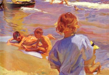 Ninos En La PlayaValencia painter Joaquin Sorolla Oil Paintings