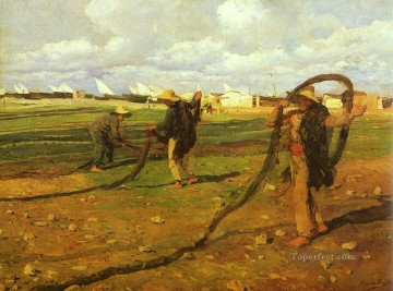 Pescadores Recgiendo Las Redes painter Joaquin Sorolla Oil Paintings