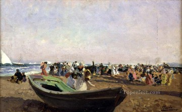 Playa de Valencia Pescadoras painter Joaquin Sorolla Oil Paintings