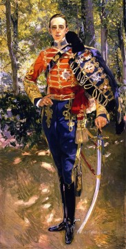 Retrato Del Rey Don Alfonso XIII con el Uniforme De Husares painter Joaquin Sorolla Oil Paintings