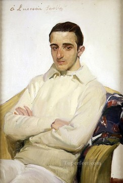 Retrato de Jose Luis Benlliure Lopez de Arana painter Joaquin Sorolla Oil Paintings