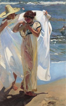 Saliendo Del Bano painter Joaquin Sorolla Oil Paintings