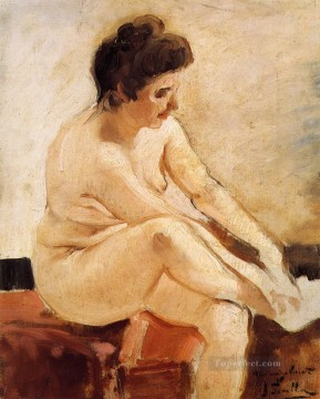 Nude Painting - Seated Nude painter Joaquin Sorolla