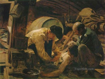 Joaquin Sorolla Painting - They Still Say That Fish Is Expensive painter Joaquin Sorolla