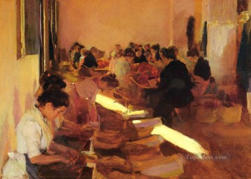 Encajonando Pasas painter Joaquin Sorolla Oil Paintings