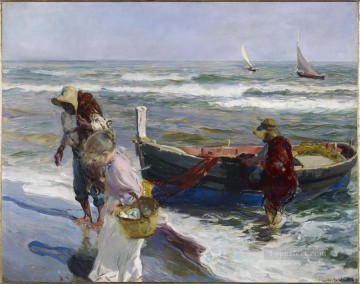 Artworks by 350 Famous Artists Painting - Return from Fishing Joaquin Sorolla Bastida
