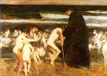Joaquin Sorolla Painting - Triste Herencia painter Joaquin Sorolla