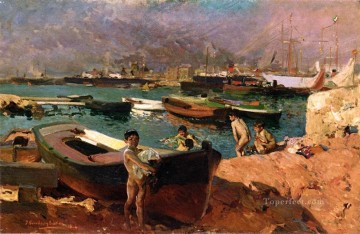Valencias Port painter Joaquin Sorolla Decor Art
