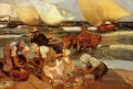 Beach at Valencia aka Afternoon Sun painter Joaquin Sorolla