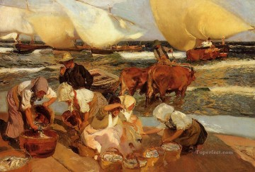 Afternoon Works - Beach at Valencia aka Afternoon Sun painter Joaquin Sorolla
