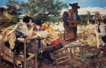 Valencian Scene painter Joaquin Sorolla Decor Art