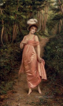 Frederic Soulacroix Painting - Elegance Of The Epoque lady Frederic Soulacroix