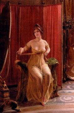 Frederic Soulacroix Painting - The Art Connoisseur lady Frederic Soulacroix