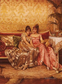Frederic Soulacroix Painting - Confidences lady Frederic Soulacroix