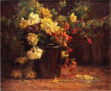 pres Painting - June Glory Theodore Clement Steele 1920 Impressionist flower Theodore Clement Steele