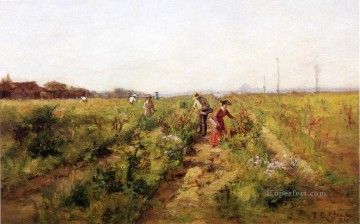 Theodore Clement Steele Painting - In the Berry Field Theodore Clement Steele 1890 Theodore Clement Steele