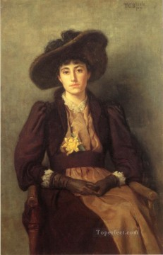 Steele Art - Portrait of Daisy Impressionist Theodore Clement Steele