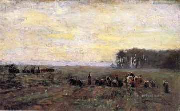 Steele Art - Haying Scene Theodore Clement Steele