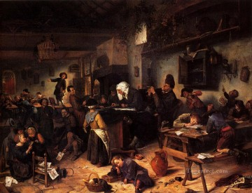 Havicksz A School For Boys And Girls Dutch genre painter Jan Steen Oil Paintings