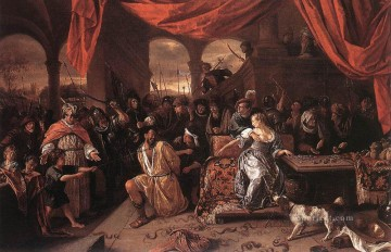 Samson And Delilah Dutch genre painter Jan Steen Oil Paintings