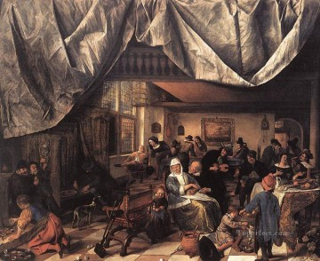 The Life Of Man Dutch genre painter Jan Steen Oil Paintings