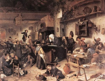 Jan Steen Painting - The Village School Dutch genre painter Jan Steen
