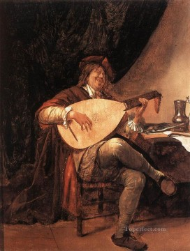 Lute Art - Self Portrait As A Lutenist Dutch genre painter Jan Steen