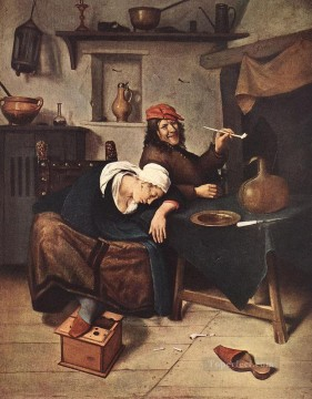 Jan Steen Painting - The Drinker Dutch genre painter Jan Steen