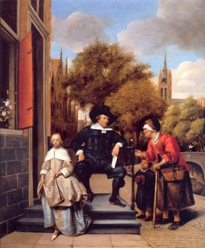 A Burgher of Delft and His Daughter Dutch genre painter Jan Steen Oil Paintings