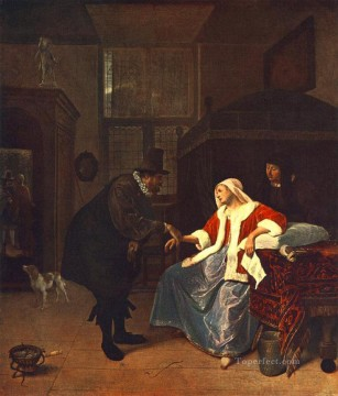 Love Painting - Love Sickness Dutch genre painter Jan Steen