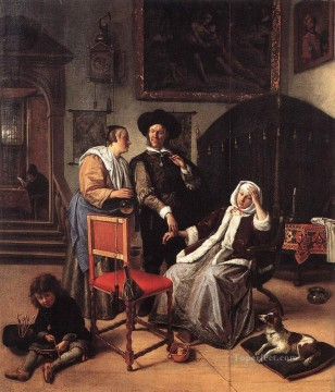 Jan Steen Painting - Doctors Visit Dutch genre painter Jan Steen