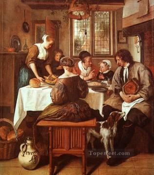 Jan Steen Painting - Grace Dutch genre painter Jan Steen
