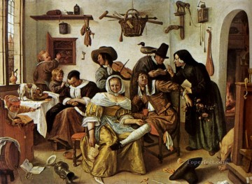 Beware Of Luxury Dutch genre painter Jan Steen Oil Paintings