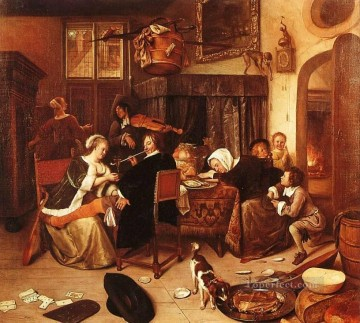 Disso Dutch genre painter Jan Steen Oil Paintings